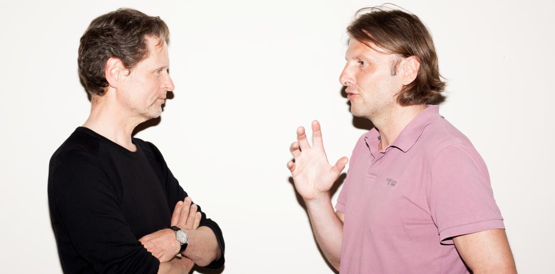 Michael Paulen und Dietmar Schmitz im Gespräch.