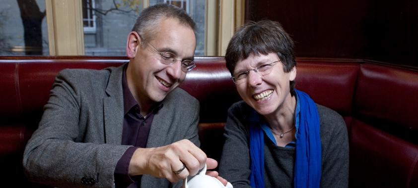 Hélène Esnault und Michael Joswig im Gespräch.